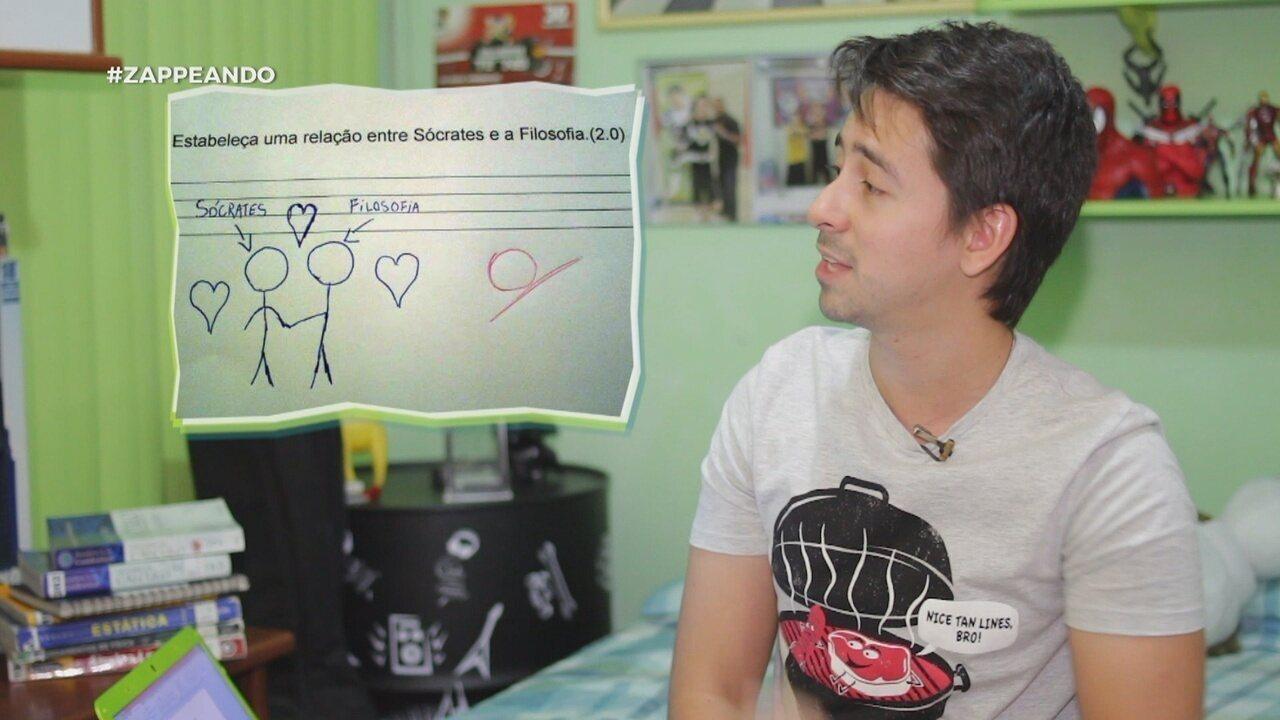 Parte 1: No #Zapp, Andy Fonseca comenta sobre as respostas mais inusitadas dadas em provas
