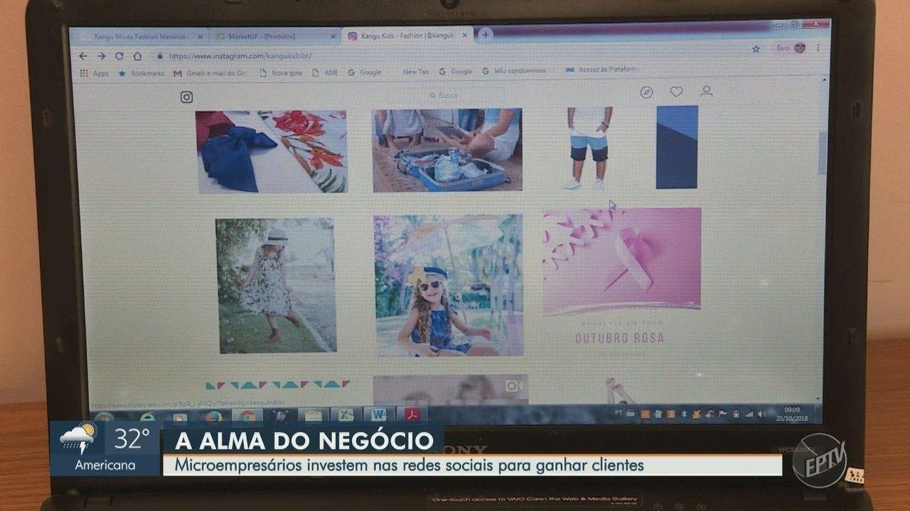 Microempresários investem nas redes sociais para ganhar clientes em Campinas