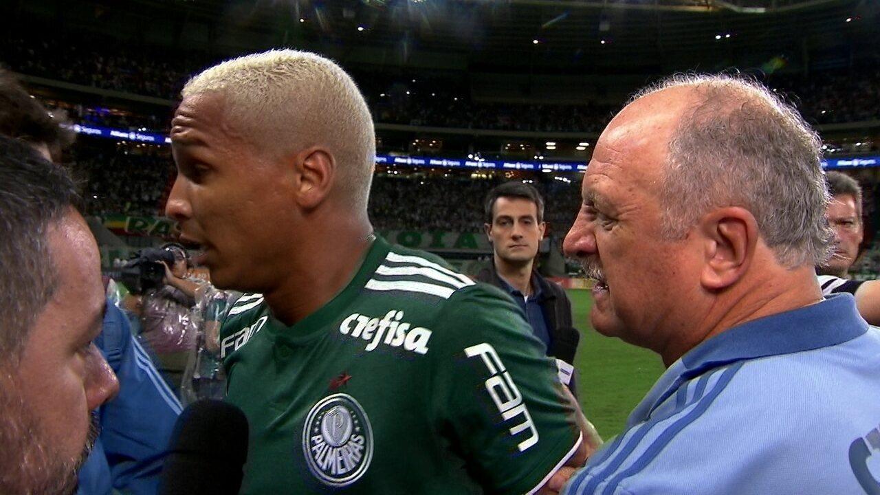 """Felipão interrompe entrevista de Deyverson e diz: """"Vão para o inferno"""""""