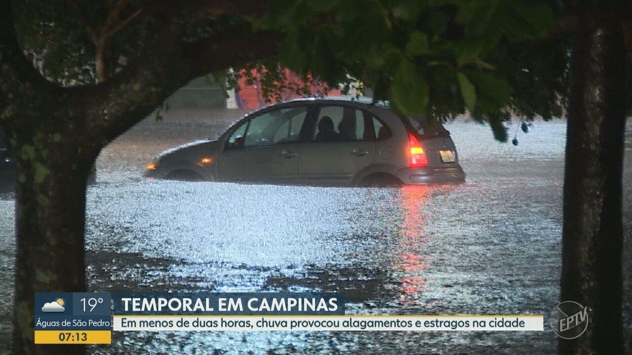Chuva de sábado em Campinas causou estragos e alagamentos