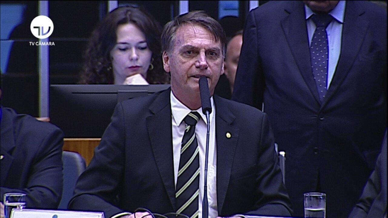 Jair Bolsonaro discursa em sessão solene no Congresso