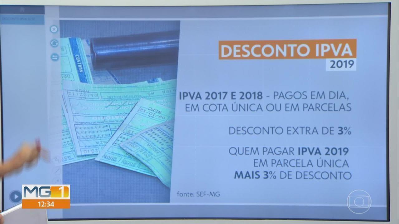 Fazenda dá desconto extra no IPVA para 'bom pagador' em Minas Gerais