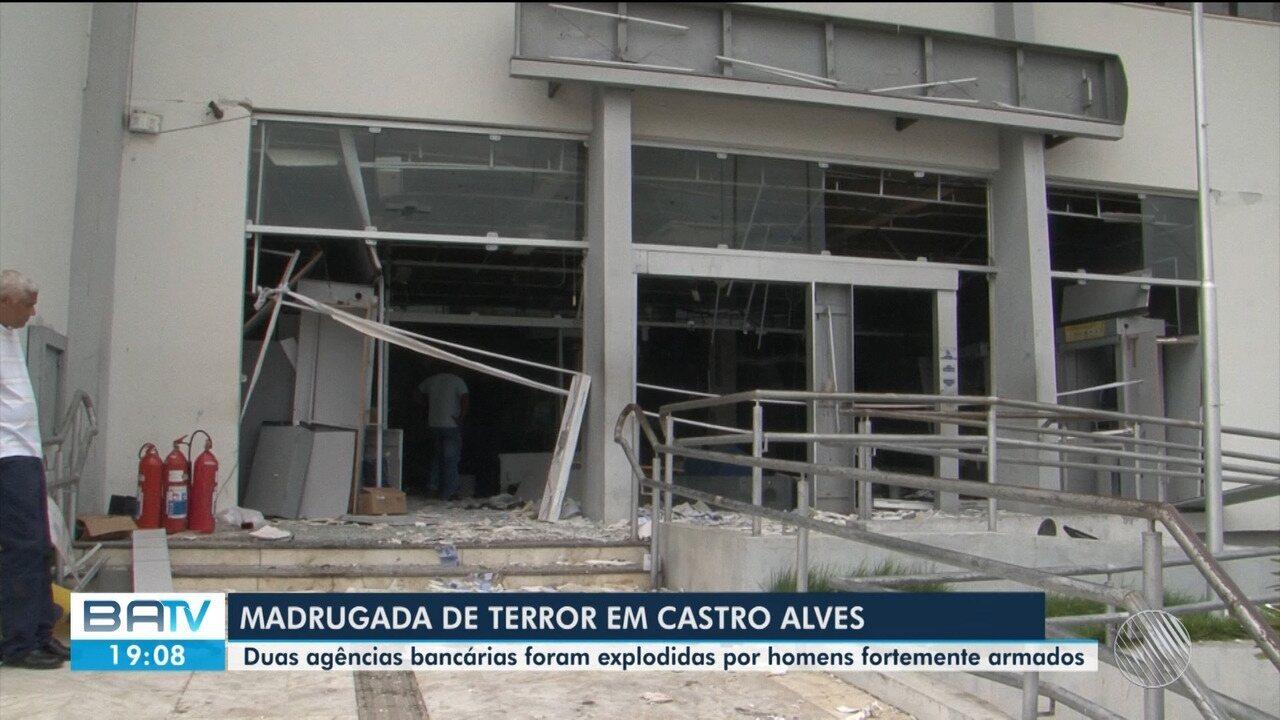 Duas agências bancárias são expliodidas em Castro Alves