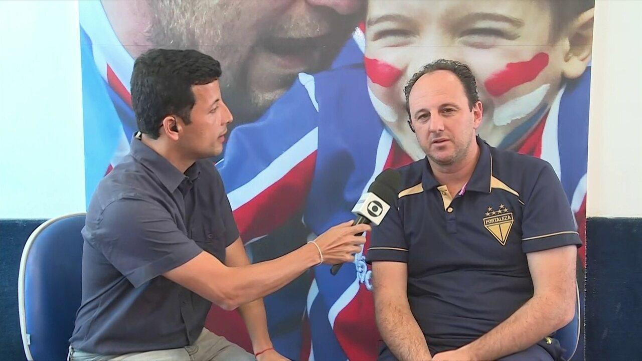 Rogério Ceni fala do empate do Fortaleza sobre o CSA e os desafios de ser treinador