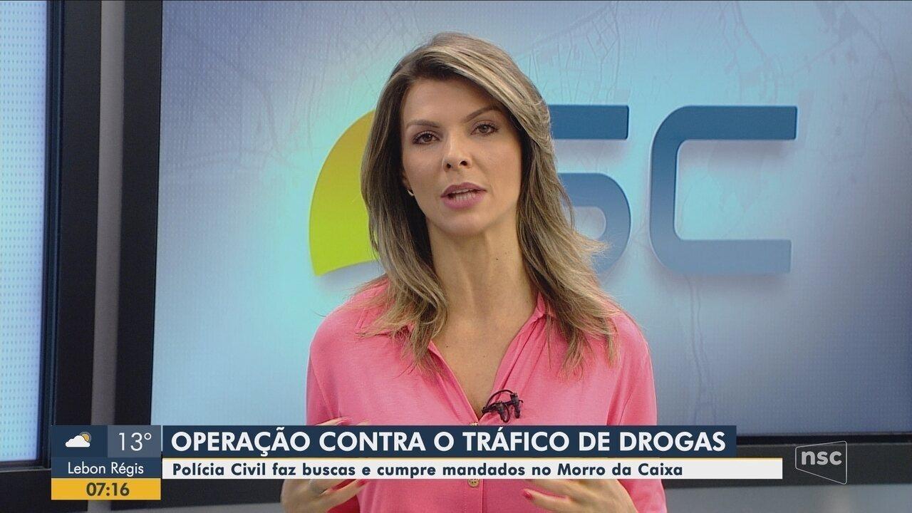 Polícia Civil deflagra operação contra o tráfico de drogas na Grande Florianópolis