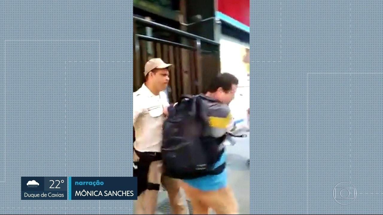 Flagrante de agressão em Copacabana