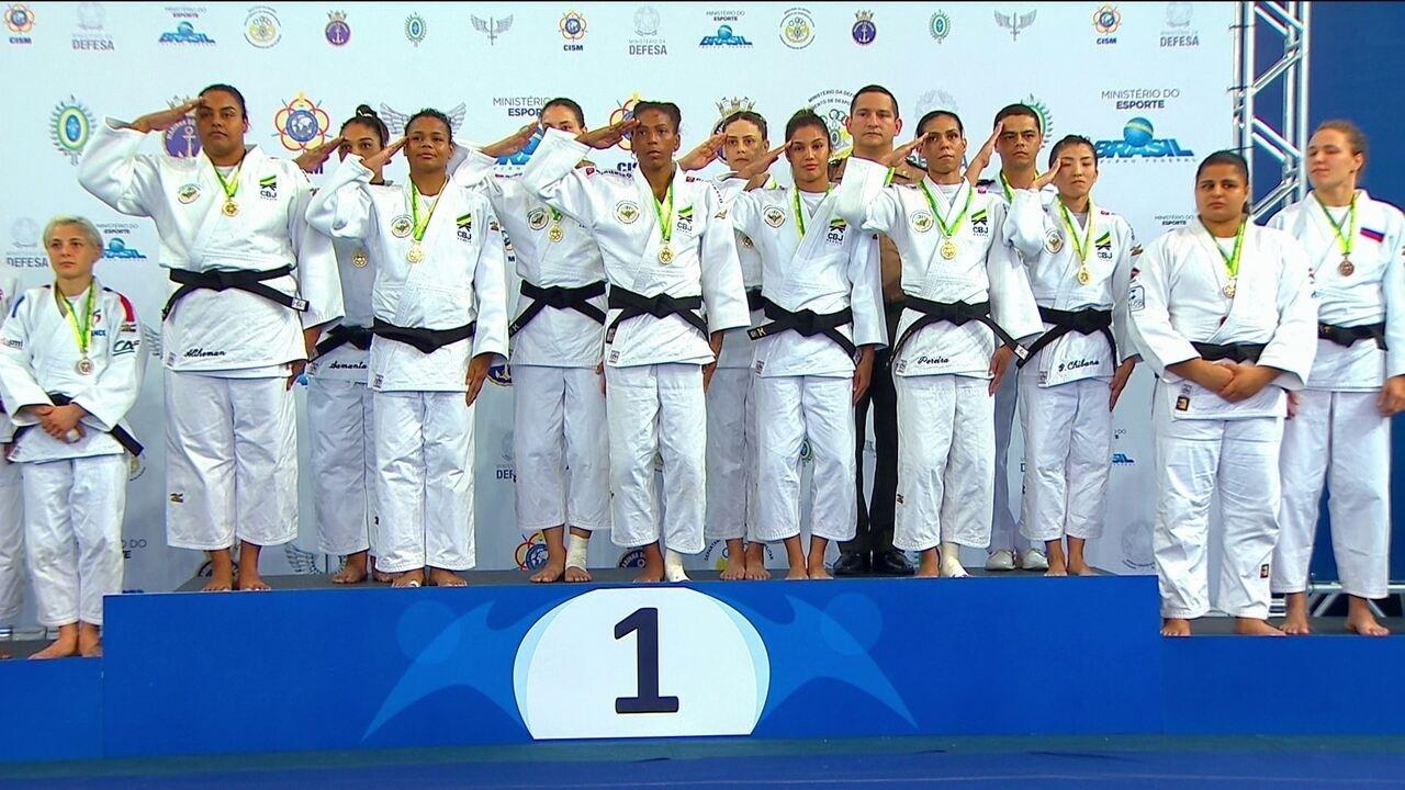 Mulheres conquistam o bicampeonato por equipe no Mundial Militar de Judô