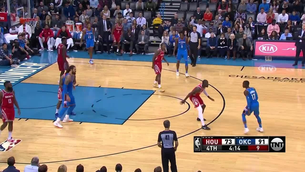 Melhores momentos: Oklahoma City Thunder 98 x 80 Houston Rockets pela NBA