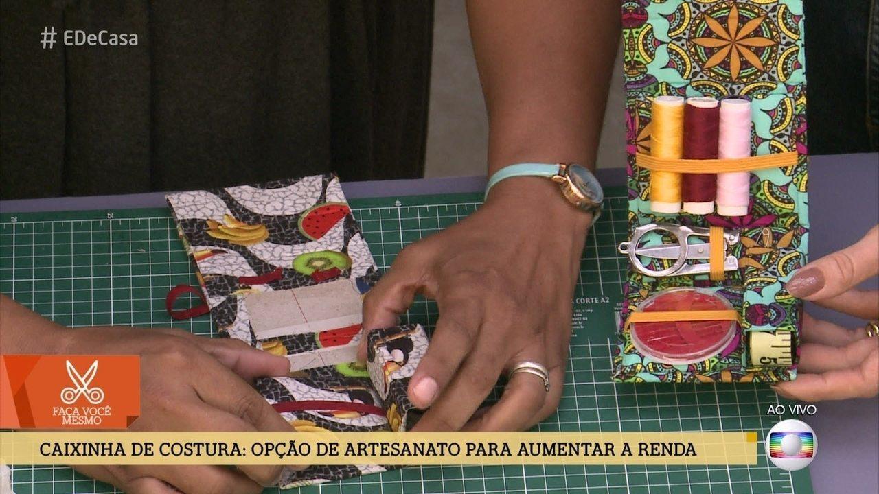 Aprenda a fazer uma linda caixinha de costura