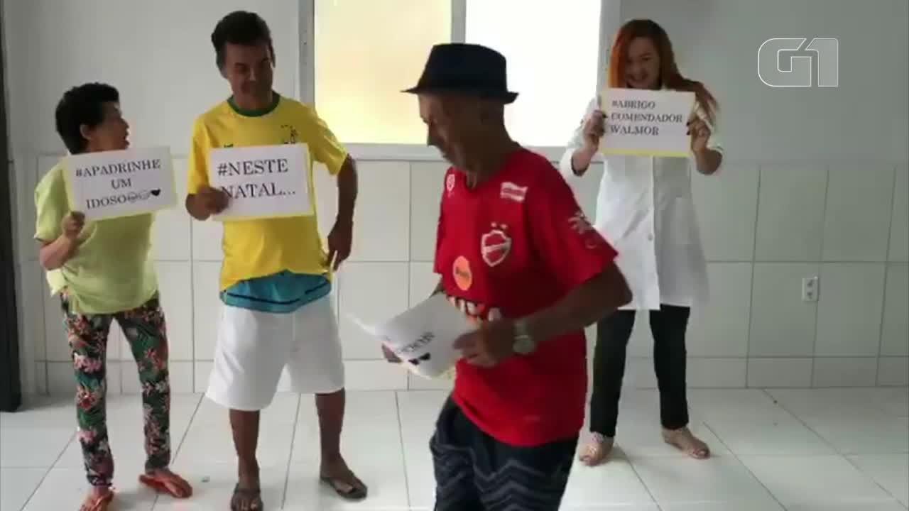 Abrigo de idosos faz vídeo e fotos para conseguir presentes para os moradores