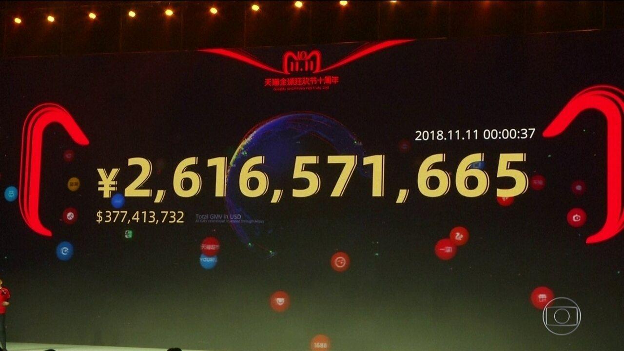 Dia dos solteiros bate recorde de vendas na China
