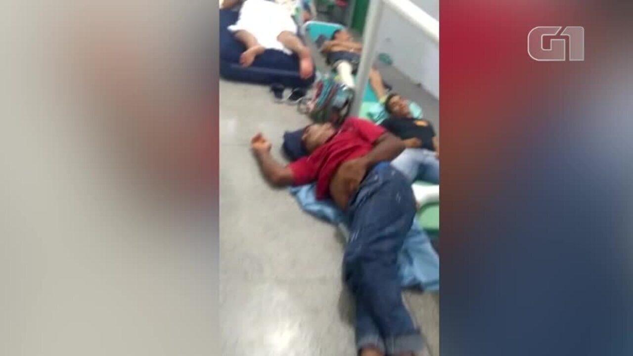 Vídeo mostra superlotação e pacientes no chão em hospitas de Floriano