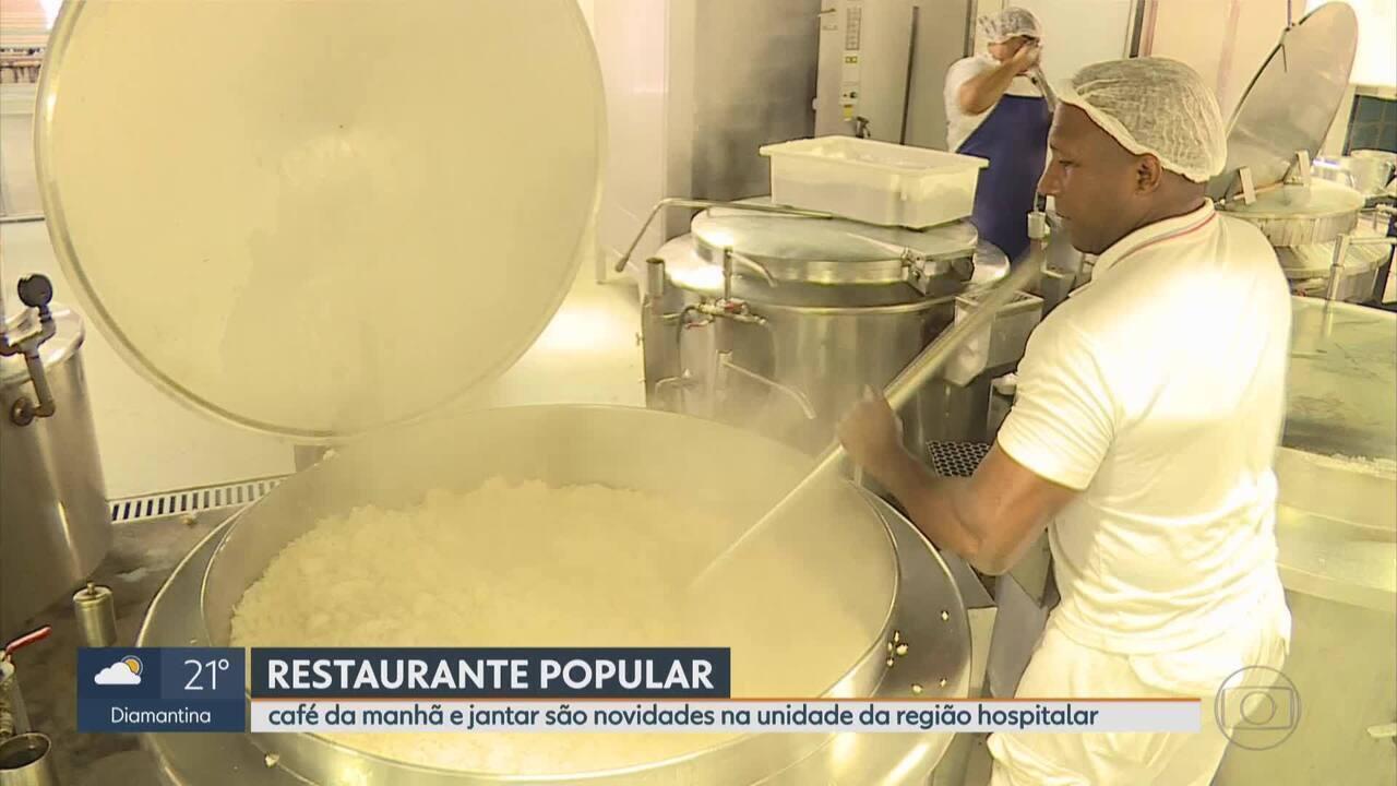 Restaurante Popular na área hospitalar de BH passa a servir café da manhã e jantar