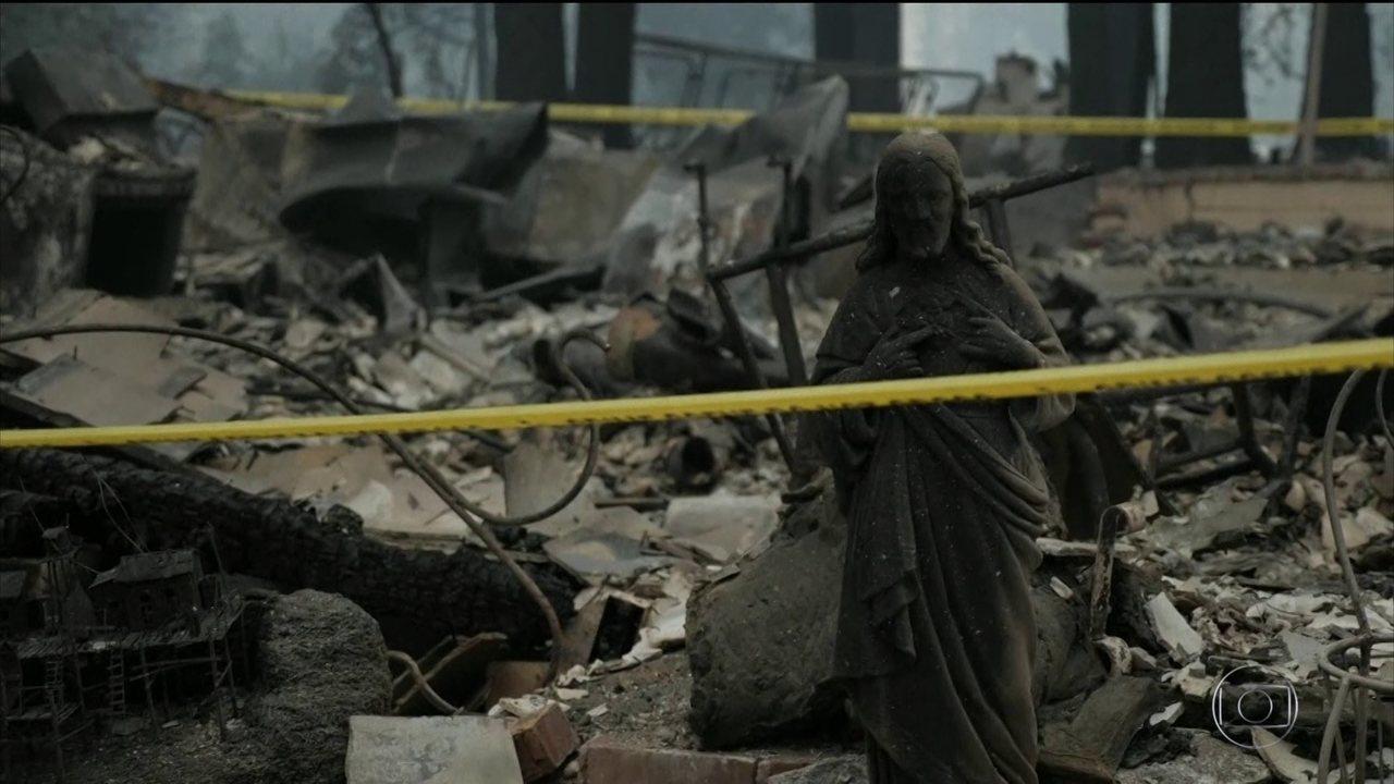 Sobe para 44 o número de mortos nos incêndios da Califórnia