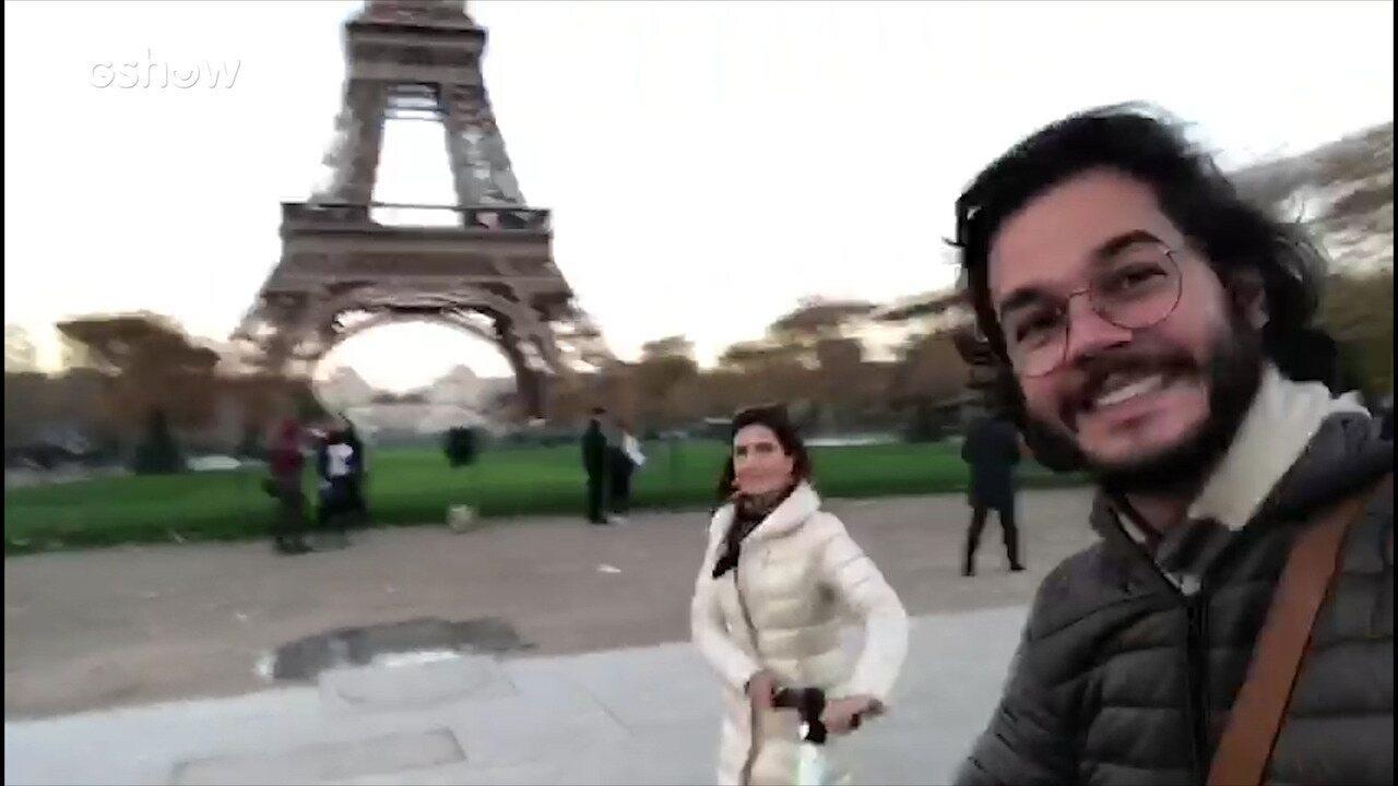 Fátima passeia com namorado em Paris