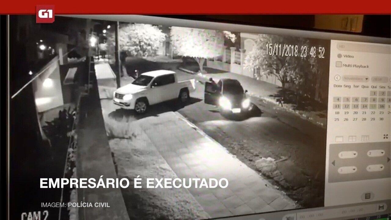 Vídeo mostra momento em que empresário é executado a tiros em MS