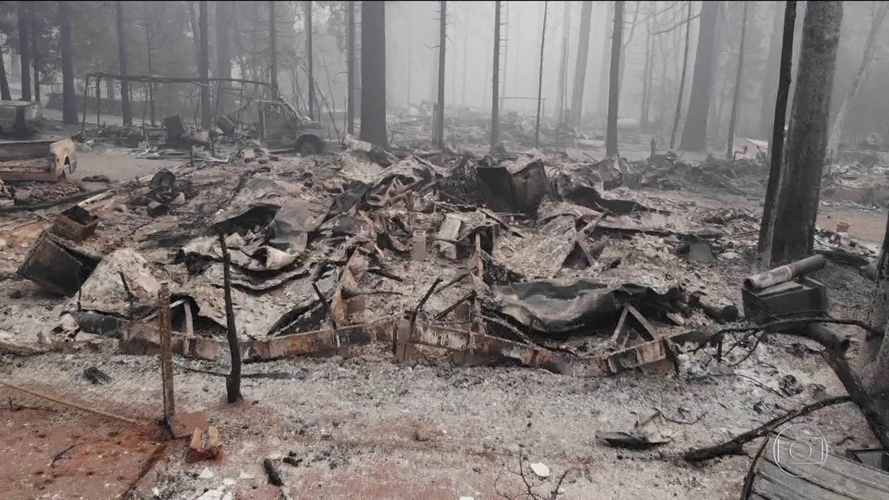 Aumenta o número de desaparecidos em incêndio na Califórnia