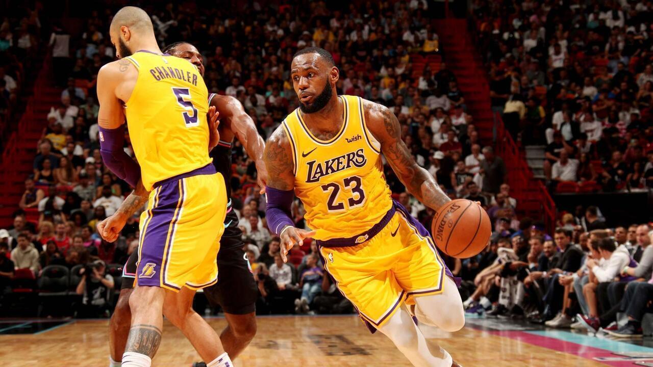 Melhores momentos Los Angeles Lakers 112 x 97 Miami Heat pela NBA
