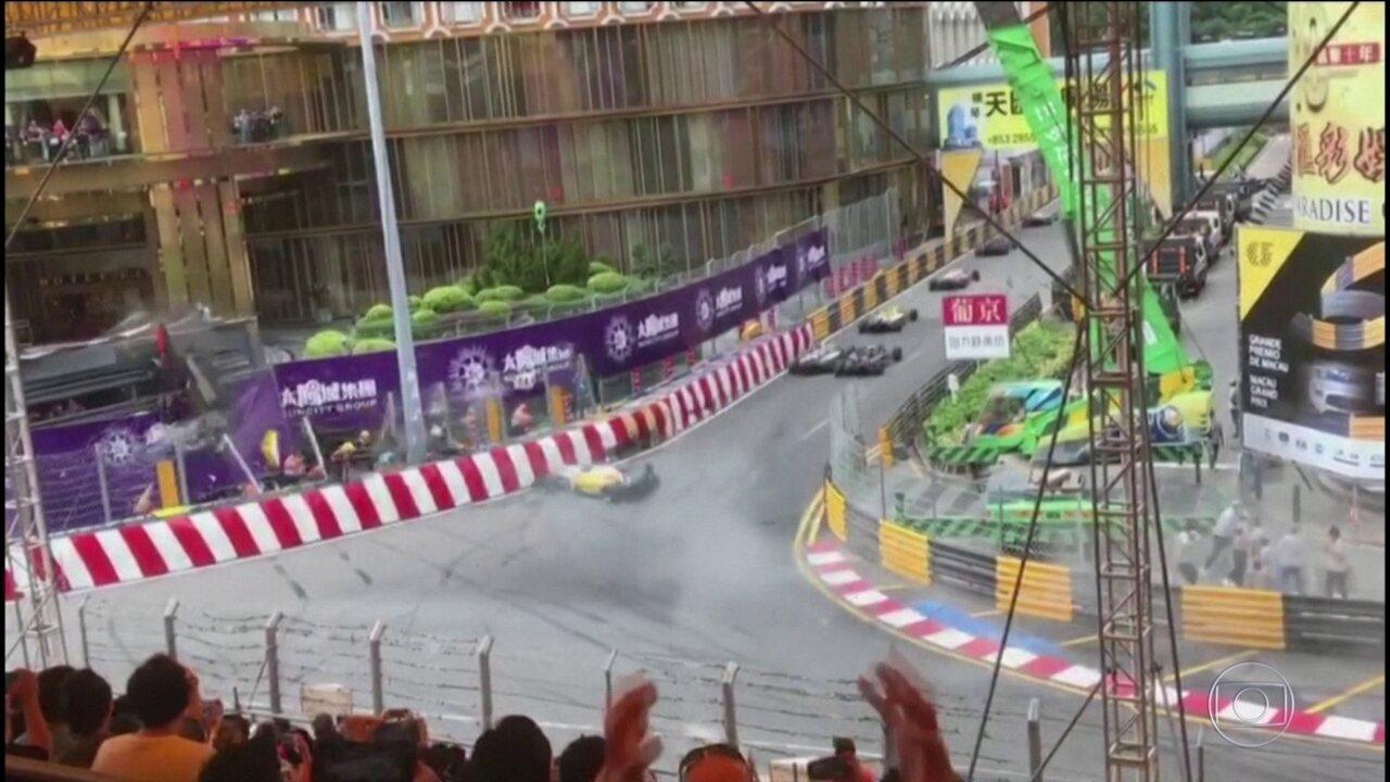 Piloto alemã sofre acidente impressionante na Fórmula 3