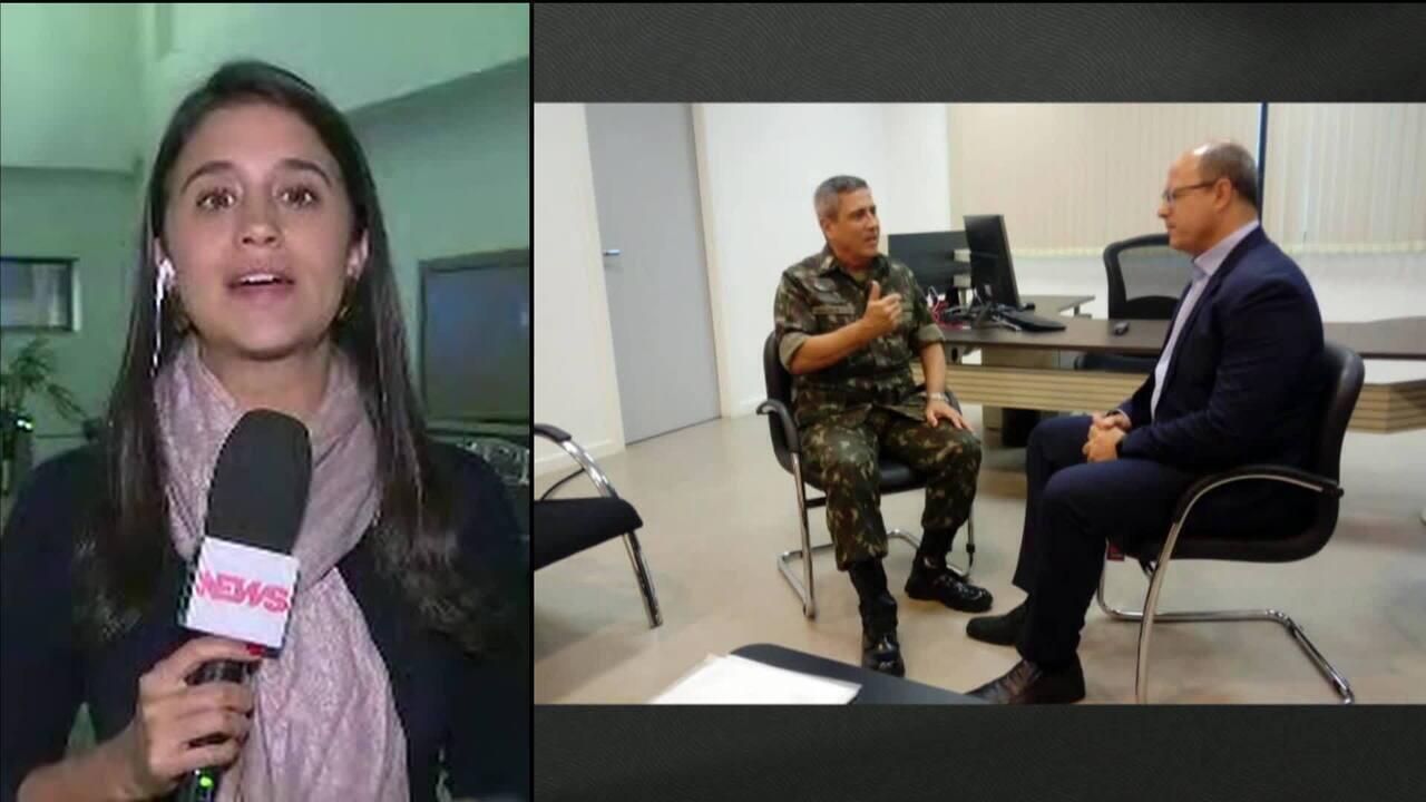 Wilson Witzel se reúne com interventor federal no Rio de Janeiro