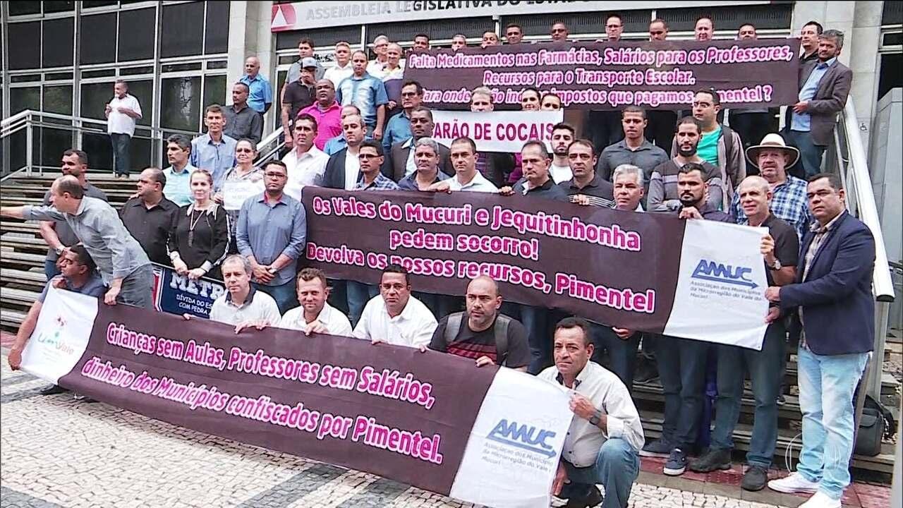 Prefeitos de Minas Gerais pedem intervenção federal no estado