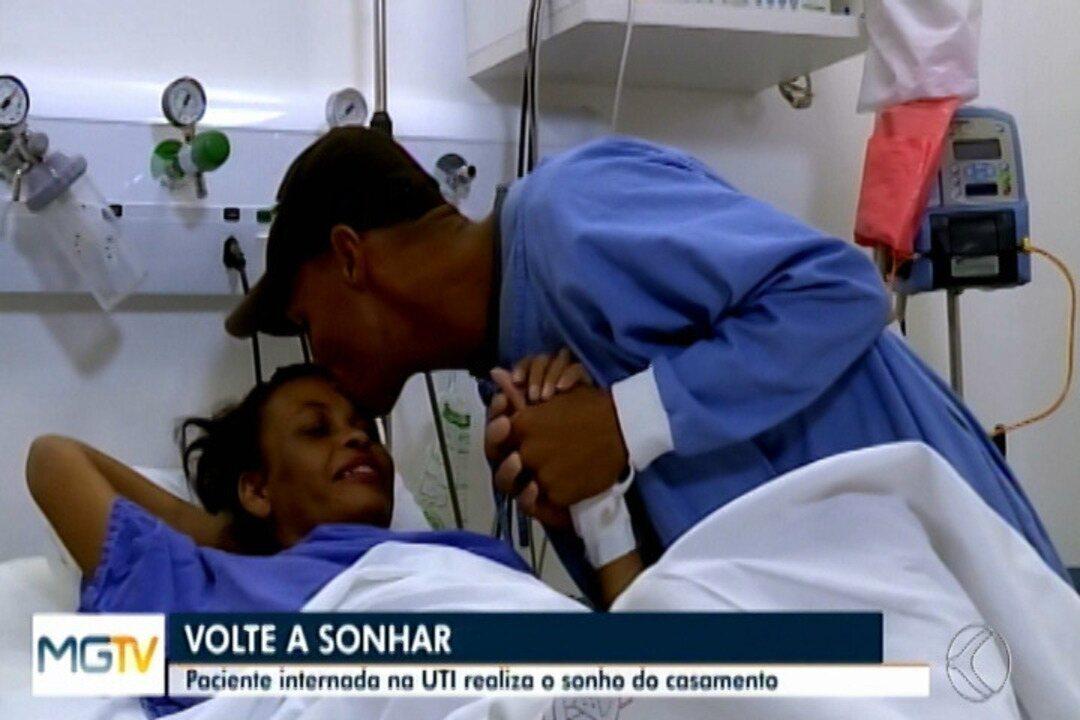 Paciente ganha cerimônia de casamento em hospital e diz: 'não desistam dos sonhos'