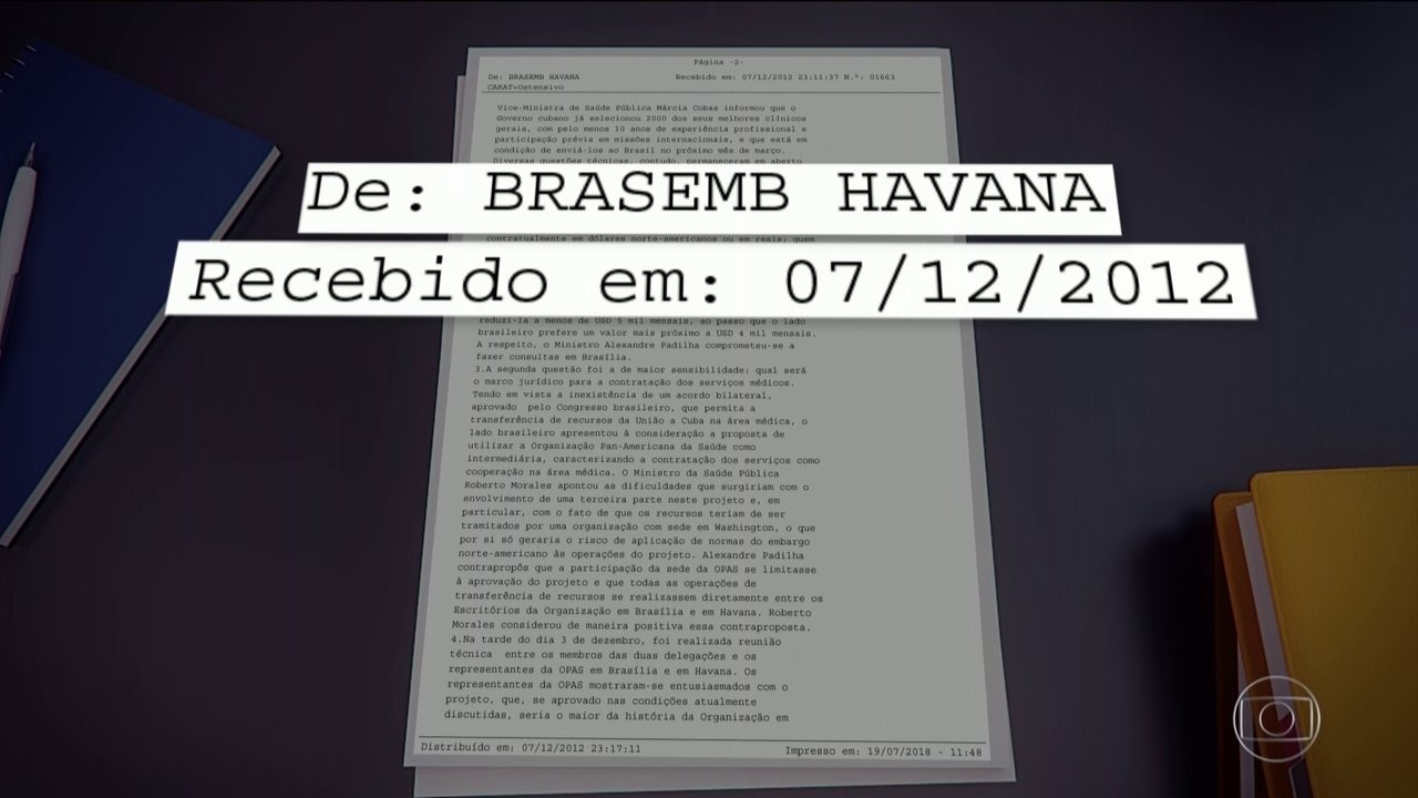 Telegramas revelam que partiu de Cuba a proposta de criação do Mais Médicos