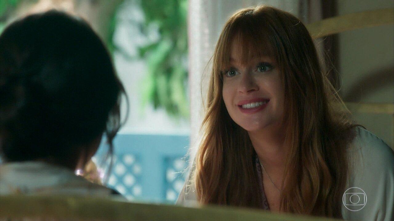 Luz confessa que está apaixonada por Gabriel