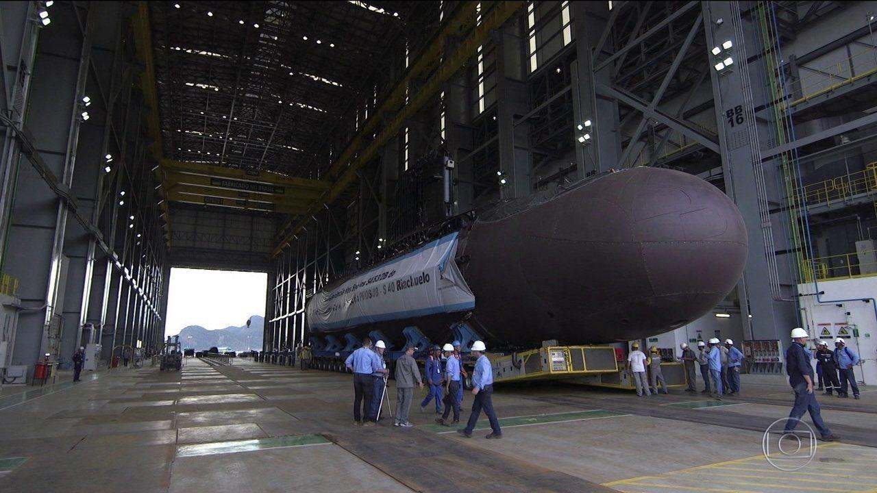 Mais moderno submarino brasileiro vai ser lançado ao mar em dezembro