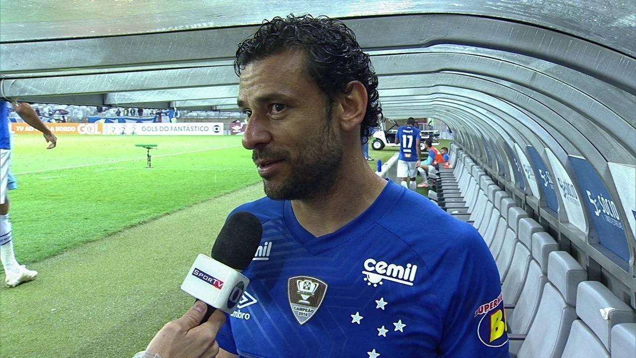 Fred festeja vitória do Cruzeiro sobre o Vitória: