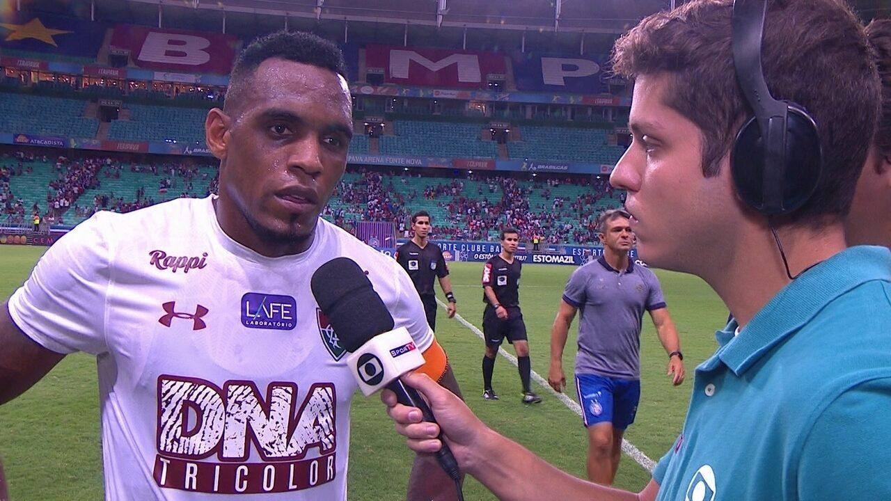 Digão lamenta derrota do Flu para o Bahia, mas afirma: