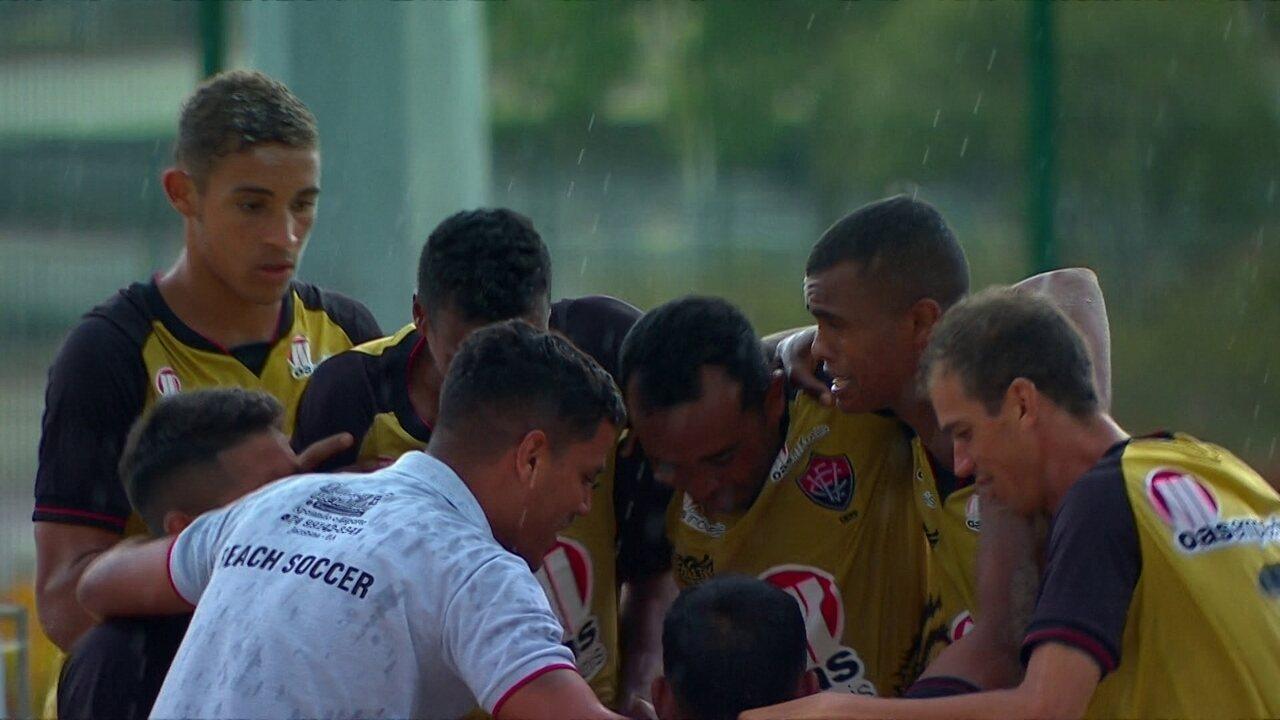 Os gols de Vasco 4 (2) x (3) 4 Vitória pela Copa do Brasil de futebol de areia