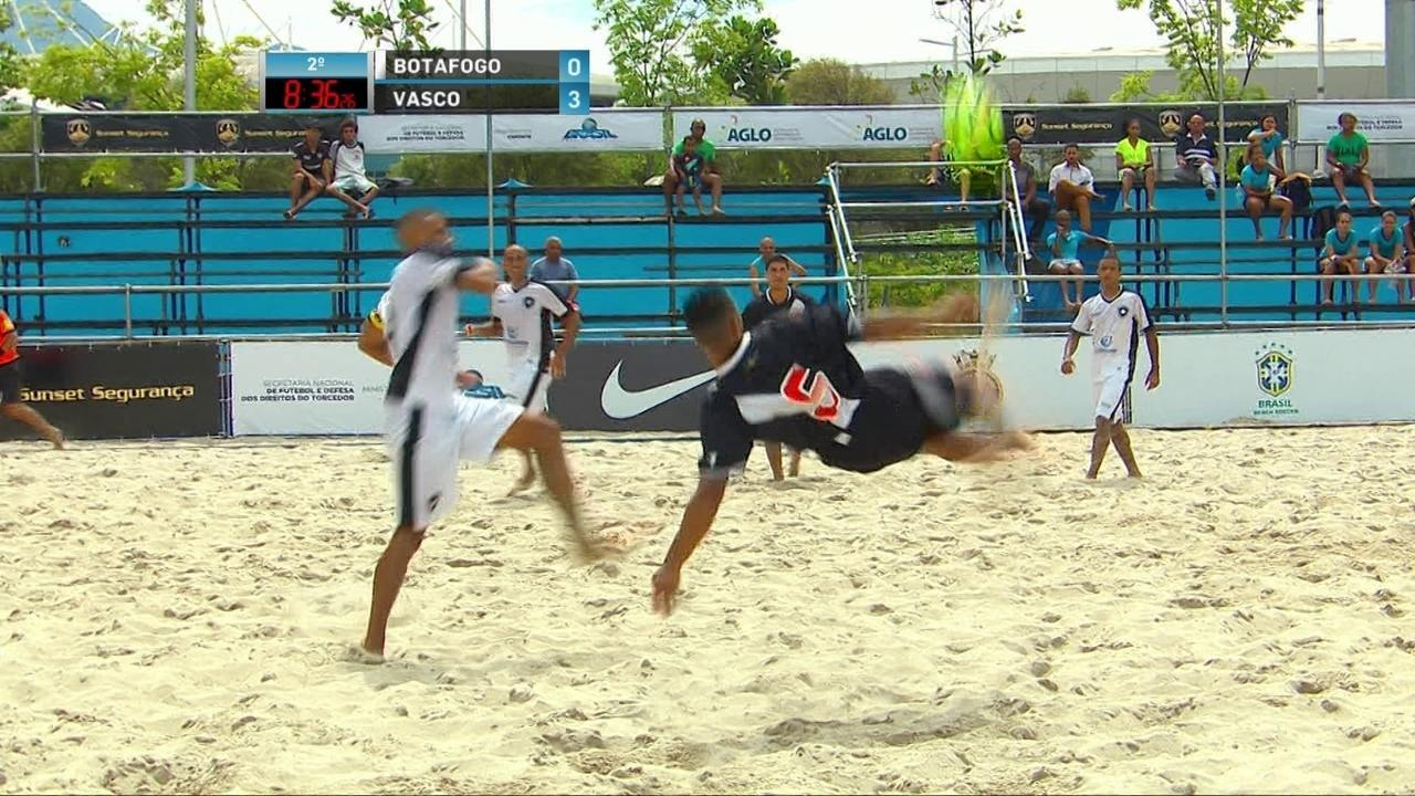 Os gols de Vasco 4 x 1 Botafogo pelo 3º lugar da Copa do Brasil de futebol de areia