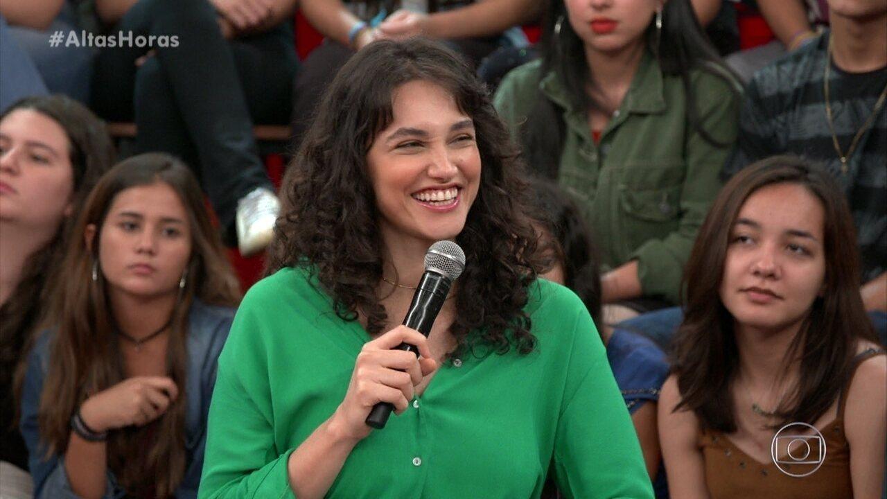 Débora Nascimento diz que sua primeira cena foi com Fábio Assunção