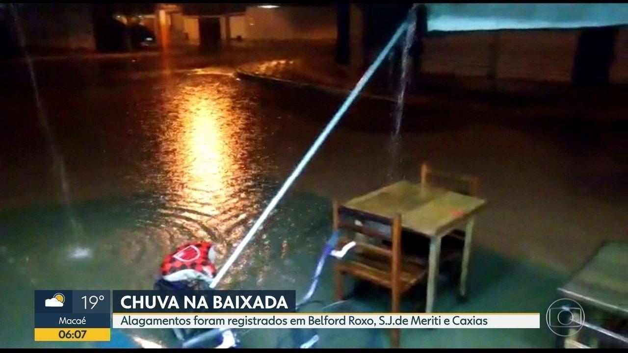 Chuva forte na Baixada Fluminense