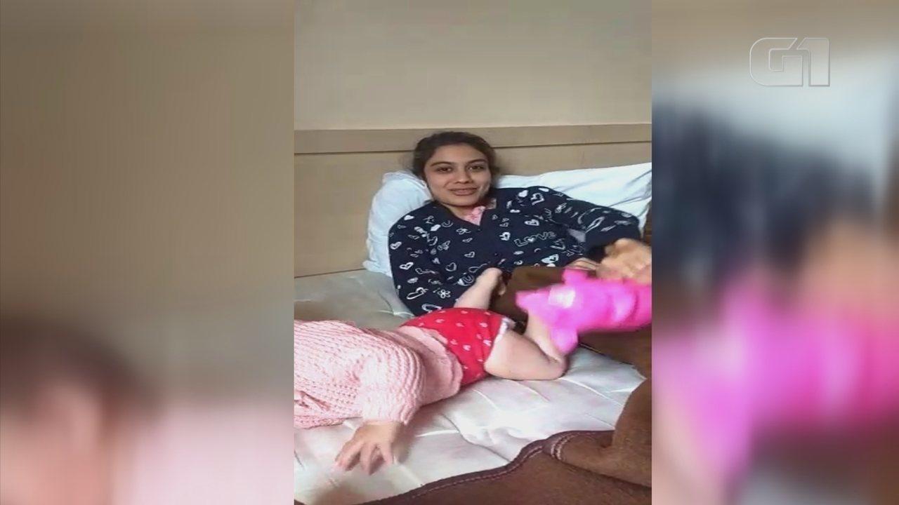 Suspeito de sequestrar mulher e filha de ex-funcionário envia vídeos para família
