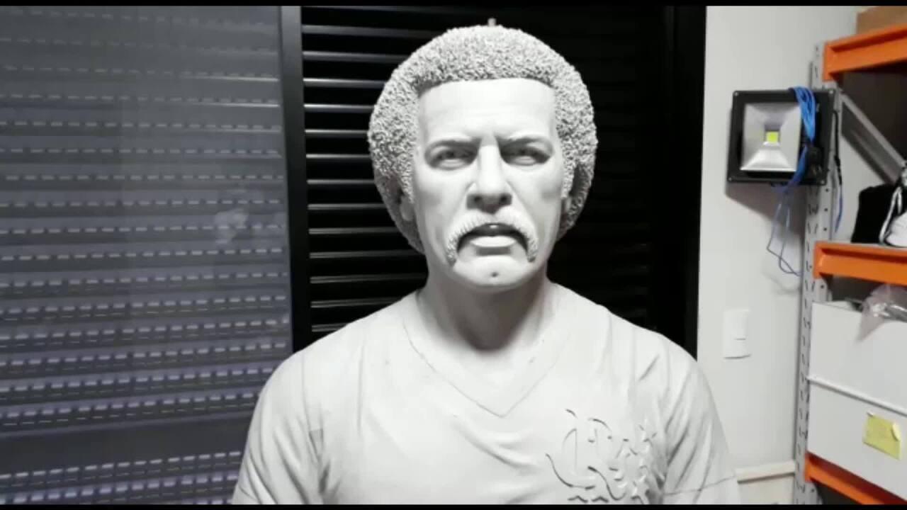 d26bcfba7 Veja como será o busto do Maestro Júnior que ficará no Ninho do Urubu