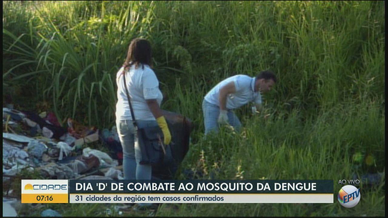 Rio Claro realiza dia 'D' de combate ao mosquito da dengue