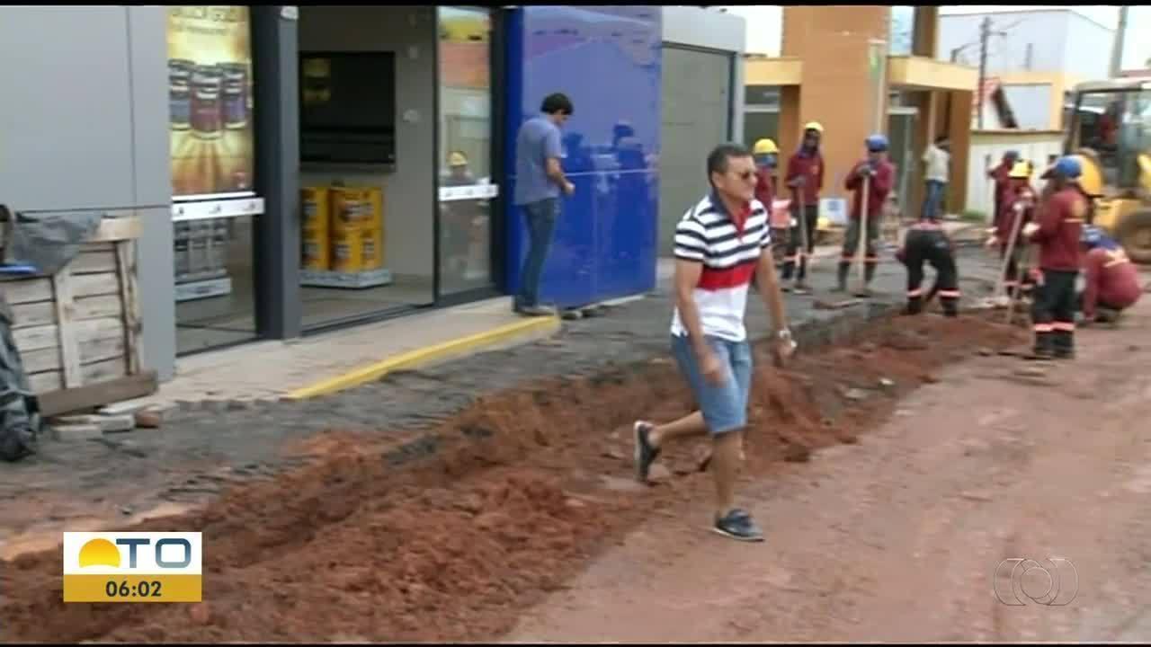 Obra que dura seis meses está atrapalhando vendas de comerciantes em Araguaína