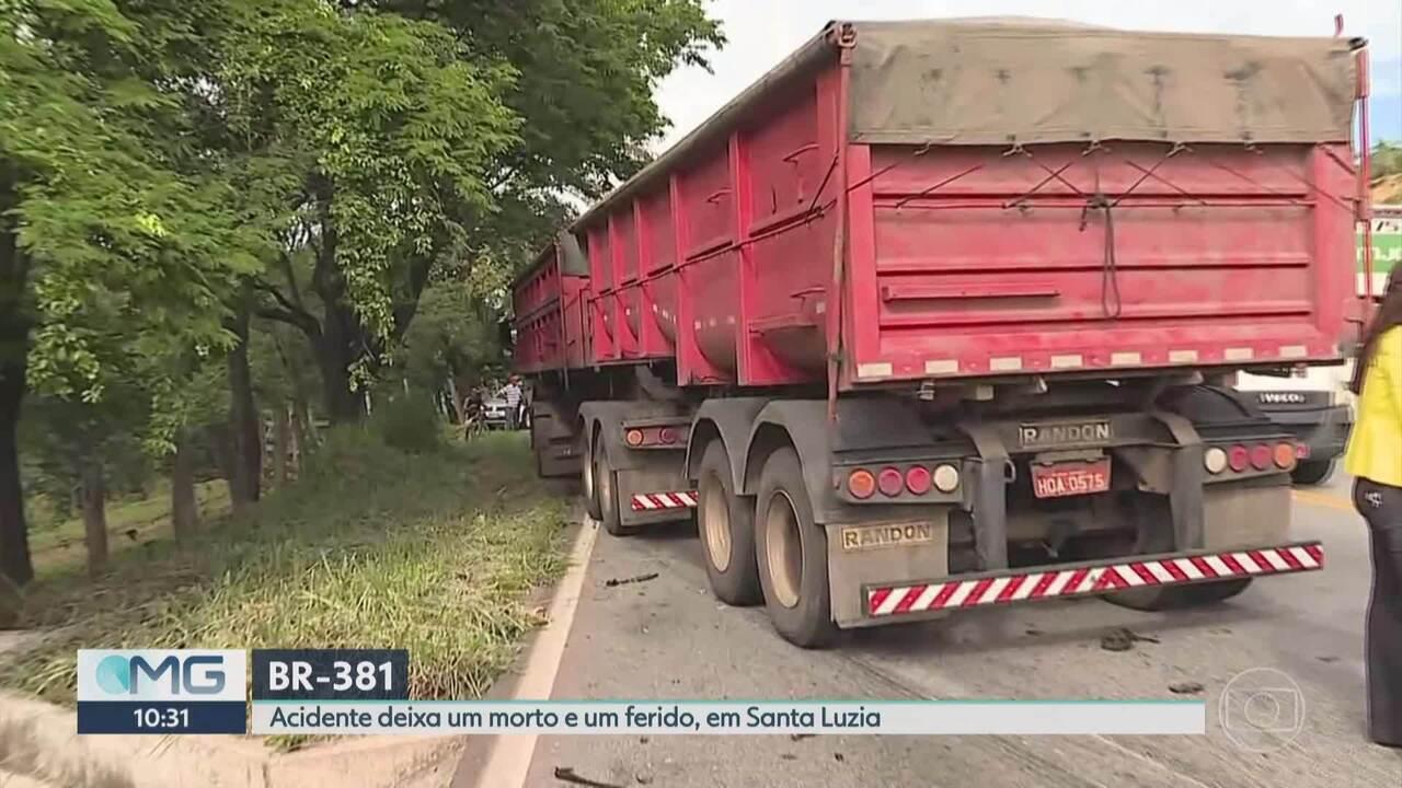 Acidente deixa um morto e dois feridos na BR-381, em Santa Luzia