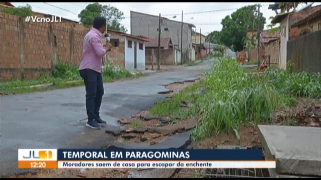 Moradores de Paragominas saem de casa para escapar das enchentes
