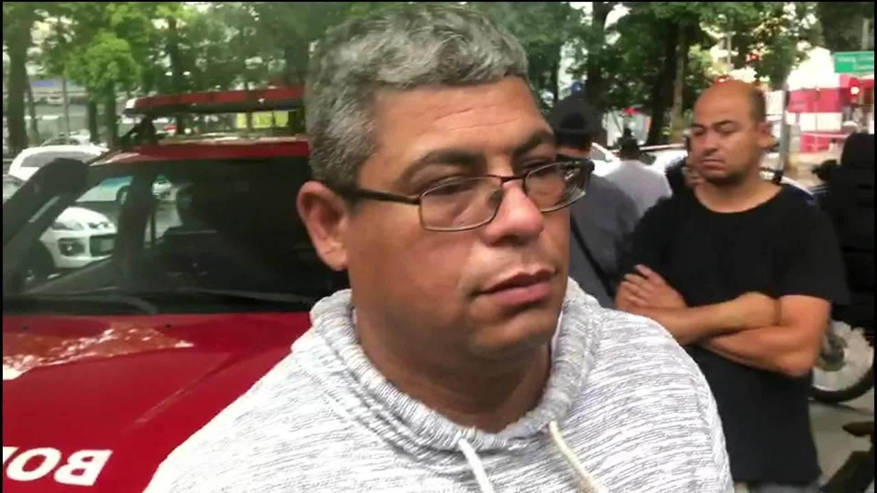 Motorista que passava pelo local do acidente em SP teve o braço queimado