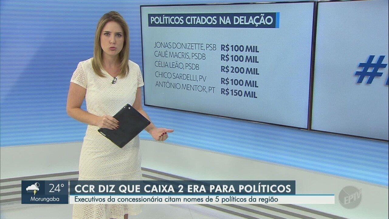Jonas Donizette e quatro políticos da região são citados em delação de empresários da CCR