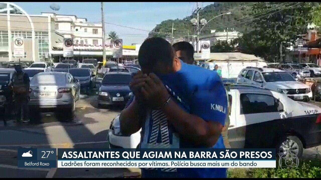 Assaltantes de roubo de carros na Barra da Tijuca são presos nesta sexta-feira (30)