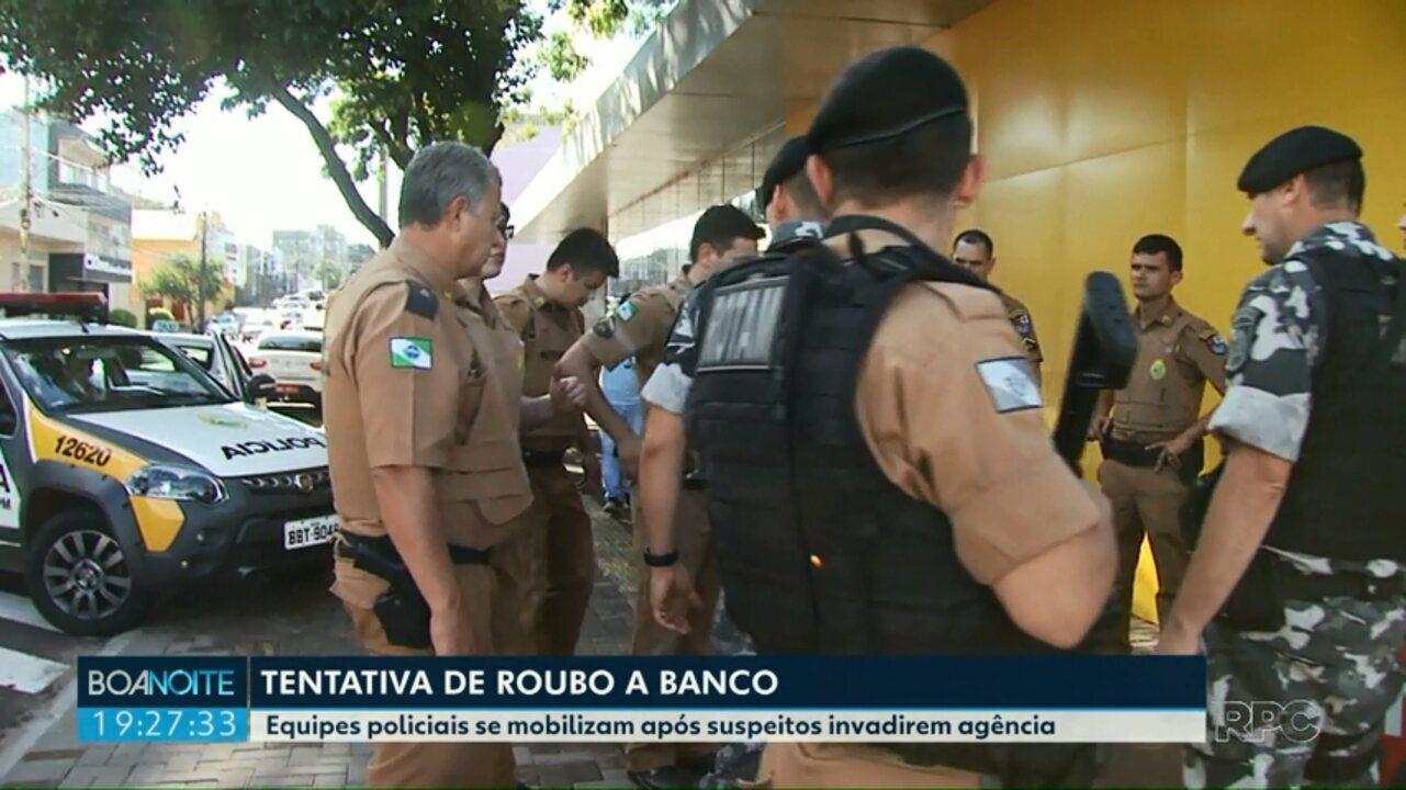 Tentativa de roubo a agência bancária mobiliza policiais em Foz do Iguaçu