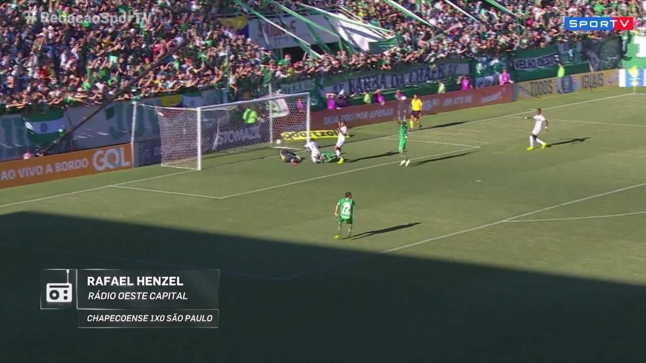 Rafael Henzel narra gol da vitória que garantiu a Chape na Série A