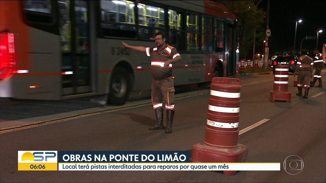 Ponte do Limão deve ficar interditada por quase um mês