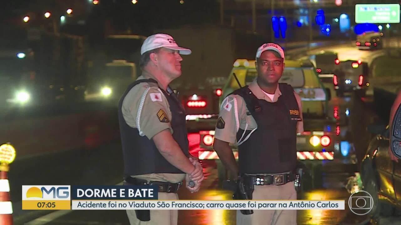 Motorista dorme ao volante e se envolve em acidente em Belo Horizonte
