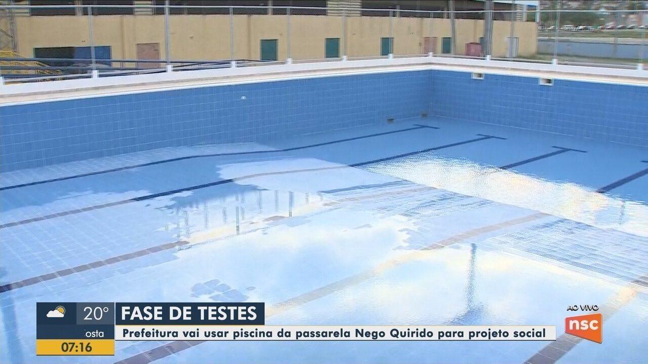Piscina na Passarela Nego Quirido em Florianópolis deve entrar na fase de testes