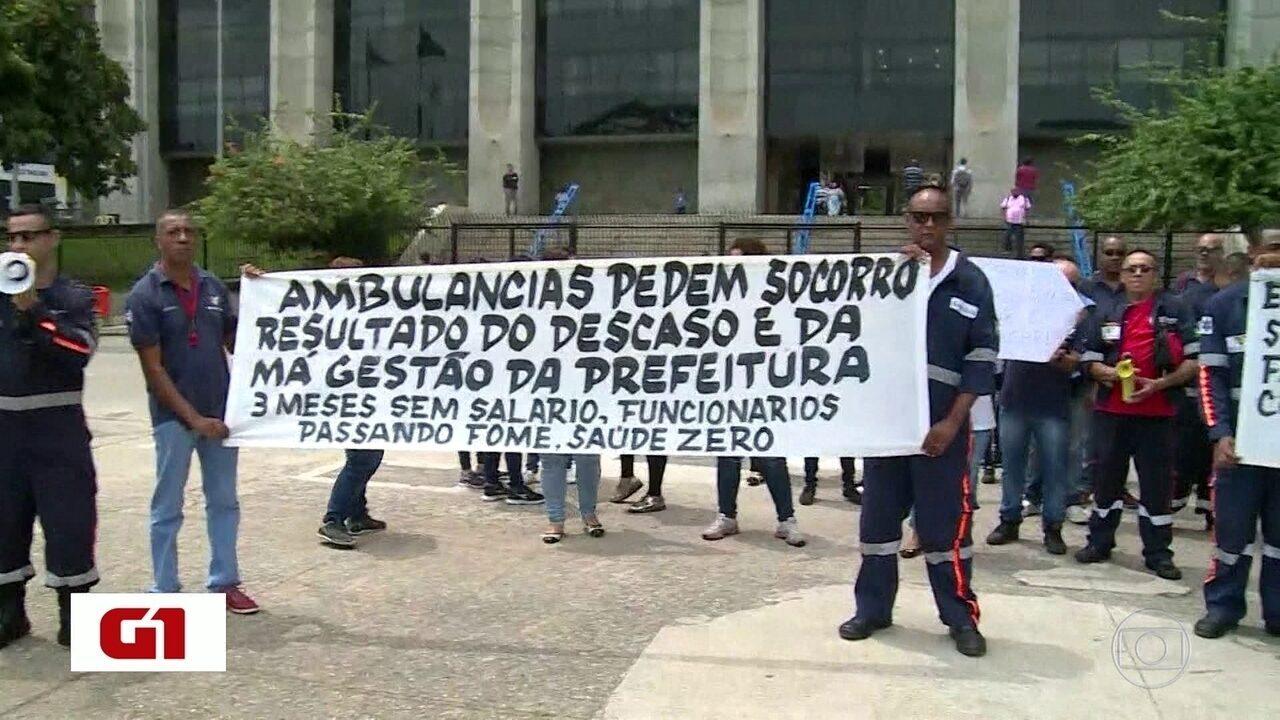 Funcionários do Hospital Salgado Filho paralisam atividades na manhã desta quinta (6)